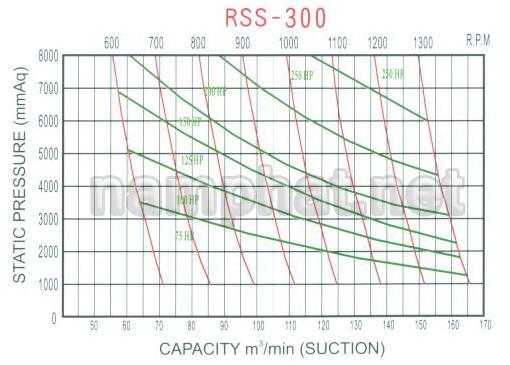 Đường đặc tính máy thổi khí RSS-300